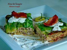 Kínai kel lasagne   Bibimoni Receptjei Salmon Burgers, Avocado Toast, Pork, Breakfast, Ethnic Recipes, Lasagna, Kale Stir Fry, Morning Coffee, Pork Chops