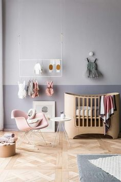 Pastel and grey nursery for baby girl | kids room inspiration