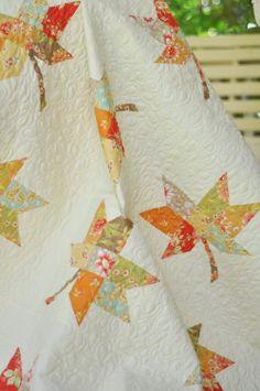 Twirled idea - make maple leaves with multi prints