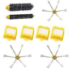 New Brush   4x Filter 6 armed Side Kit for iRobot Roomba 700 Series 760 770 780