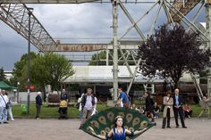 """Milan, June """"Fuori luogo festival"""" at Carroponte, a place for concerts and cultural activities located in former Breda iron and steel factories, founded in 1916 and closed in Founded In, Factories, Concerts, Milan, Fair Grounds, June, Italy, Culture, Activities"""