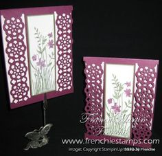 Stamp & Scrap with Frenchie: Lace Ribbon Border Punch Card/Video
