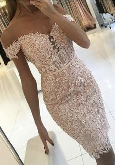 beautiful lace http://www.babyonlinedress.com/g/sexy-short-sheath-off-the-shoulder-lace-buttons-homecoming-dress-108694.html