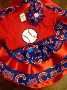 A personal favorite from my Etsy shop https://www.etsy.com/listing/250730333/chicago-cubs-outfit