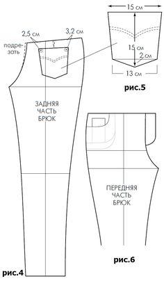Выкройка джинсов   pokroyka.ru-уроки кроя и шитья