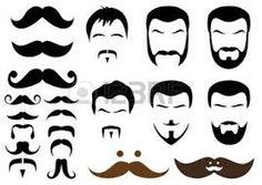 Resultado de imagen de moldes bigotes, barbas, cejas hombre foami