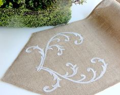Burlap Table Runner Holliday Table Linens Gold by HotCocoaDesign
