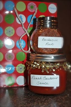 Great holiday gift - BBQ Rub and Peach Barbecue Sauce