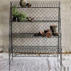 Exquisite Large Black Wire 4-Tier Shelf