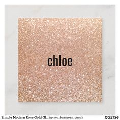 Shop Simple Modern Rose Gold Glitter Makeup Artist Square Business Card created by sm_business_cards.