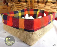 CosoQueTeCoso: Mini cestas de arpillera