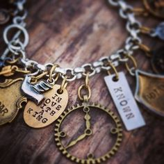 I'm loving charm bracelets right now, and meaning is everywhere!! This is one of my new Jericho charm bracelets that focuses on intimacy. You were designed to be known by the one who made you. New items added to my website! Head over to www.thecrowningjewels.com #love #girl #faith #inspire #believe #truth #perfect #glam #statement #truth #kingdom #prophetic #jewelry #weartruth #wordscreateworlds #known