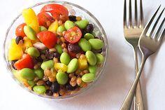 Berry, tomato and Edamame Salad