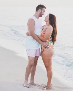 A man's body positive love letter to his wife has the internet swooning. Author Robbie Tripp penned a sweet tribute celebrating his bride Sarah's voluptuous body, and the message is resonating with men and women all around the globe. Girl Couple, Couple Stuff, Husband Love, Bikini, Real Women, Look Fashion, Couple Goals, Cute Couples, Thighs