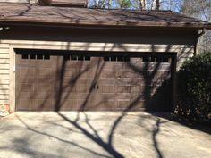Dark Brown Carriage House Garage Door