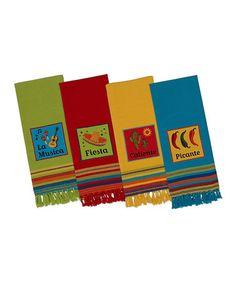 Love this La Cocina Dish Towel Set on #zulily! #zulilyfinds