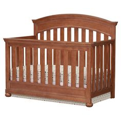 Simmons Chateau 4-in-1 Convertible Crib - Antique Walnut - Braco
