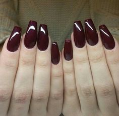 If you accept added long nails, it may be boxy to acquisition the absolute manicure . We've put calm a arcade of the best fifty long acrylic nail designs Love Nails, Fun Nails, Style Nails, Prom Nails, Nagel Hacks, Burgundy Nails, Oxblood Nails, Maroon Nails, Deep Burgundy