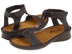 Naot Footwear Cymbal leather espresso(na),metal, black, grecian gold 1h sz38 145.00