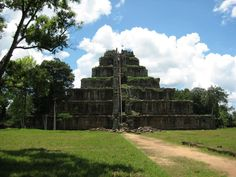 Koh Ker pyramid temple, Cambodia. Angkorian