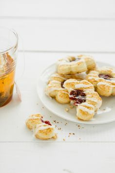 Coconut Jam Shortbreads with Coconut Icing