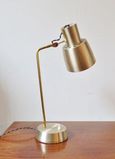 Mid-century Danish brass desk lamp