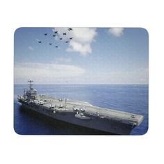 USS Abraham Lincoln Aircraft Carrier mousepad