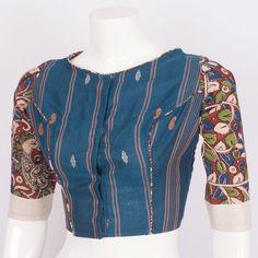 Tvaksati Hand Crafted Kalamkari Cotton Blouse 10008560 - AVISHYA.COM