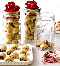 Christmas cookies raspberry pinwheels in mason jars ToniKami ℬe Meℜℜy DIY crafts gift idea for neighbors, co-workers, teachers