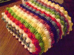 Blackberry Salad Striped Afghan on www.mooglyblog.com
