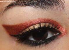 fiery eye makeup
