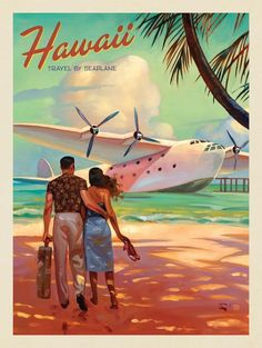 This series of romantic travel art is made from original oil paintings by artist. This series of romantic travel art is made from original oil paintings by artist Kai Carpenter. Poster Art, Art Deco Posters, Poster Prints, Vintage Travel Posters, Poster Vintage, Vintage Art, Romantic Vacations, Romantic Travel, Deco New York