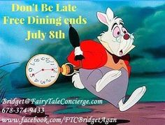 I just secured #FreeDining for a client tonight saving them tons of money on their Disney Vacation Package!  This amazing offer ends Friday so don't miss it - Book your Free Dining Disney Vacation Package today!! Bridget@FairyTaleConcierge.com (678) 374-9433  #BridgetAganDisneyTravelPlanner #FreeDisneyTravelPlanning #NoObligationFreeQuote #Disneyphile #GetDisneyWithIt #DisneyMom #DisneyMommy #DisneyDad #WDW #DreamsDoComeTrue #DisneyOnABudget #Fun #Memories #TheGoodLife #Tourism #Tourist…