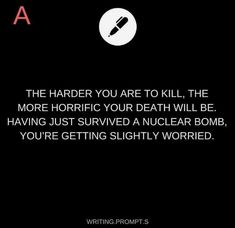 Again, I have bad OCD and I don't like posting death stuff but like, some if these are so clever. Daily Writing Prompts, Book Prompts, Book Writing Tips, Creative Writing Prompts, Writing Challenge, Story Prompts, Cool Writing, Writing Help, Writing Ideas