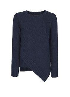 Alpaca wool asymmetric sweater
