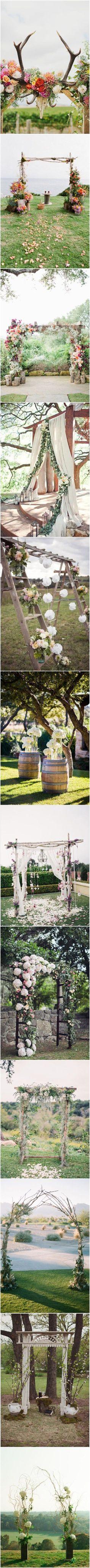 Rustic Wedding Ideas - Floral Wedding Arches Decorating Ideas