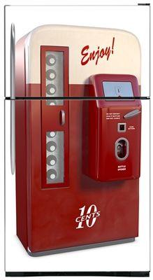 Vintage Vending Machine Fridge Magnet Skin Cover