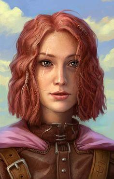 [Imoen by CG-Zander.deviantart.com on @DeviantArt] Give her a darker shade of red hair = Anne several weeks after Mirel's death