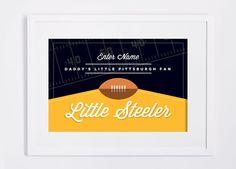 Pittsburgh Steelers Print. Custom NFL Children's Room or Nursery DIY Custom Design Print