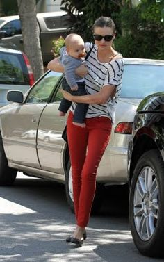 Love the red pants!