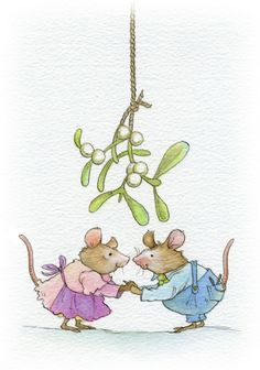 This is one of a series of Christmas mice designs that I created for a range of my own Christmas mice cards, which I sell every year. Watercolor Christmas Cards, Christmas Drawing, Christmas Paintings, Watercolor Cards, Watercolor Postcard, London Christmas, Noel Christmas, Christmas Animals, Mouse Illustration