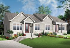 ePlans Craftsman House Plan – Craftsman Duplex With Two Open Plan Units – 1836 Square Feet and 4 Bedrooms from ePlans – House Plan Code HWEPL76434