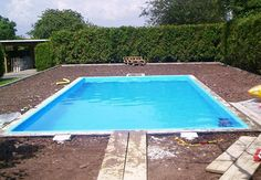 Build the pool yourself - Instructions in 13 steps OBI - Pour in water -