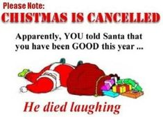 Christmas Is Cancelled - christmas pictures christmas humor christmas jokes christmas cartoons xmas pictures xmas humor xmas jokes xmas cartoons Funny Christmas Cartoons, Funny Christmas Wishes, Funny Christmas Pictures, Naughty Christmas, Christmas Quotes, Christmas Images, Christmas Humor, Christmas Eve, Christmas Desktop