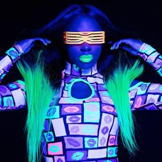 Glow Outfit of WWE Naomi.She has signed for ring match for the Women Champion (SD Live Blue) WWE Alexa Bliss. Wrestling Outfits, Wrestling Divas, Women's Wrestling, Wwe Costumes, Mma, Naomi Wwe, Trinity Fatu, Wwe Women's Division, Wwe Female Wrestlers