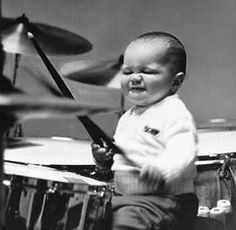 Baby drummer - ive loved this picture for years now!