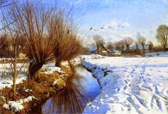 Le Prince Lointain: Peder Mork Monsted (1859-1941), Hiver à Brondbyves...