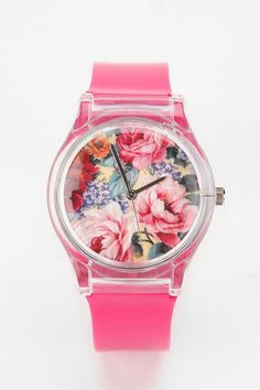 Glossy Floral Watch