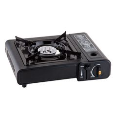 Perfect for camping and tailgaiting, this easy-to-use portable butane stove doesn't require matches, lighters or batteries and boasts a built-in safety shut-off feature as an extra precaution. Includes butane stove and carry W x H x DSteelImported Outdoor Catering, Bbq Catering, Catering Events, Tragbarer Herd, Portable Gas Stove, Coleman Camping Stove, Outdoor Stove, Cooking Equipment, Santa Cruz