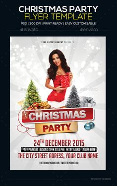 Christmas Party Flyer Template PSD #design Download: http://graphicriver.net/item/christmas-party-flyer-template/6425492?ref=ksioks